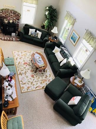 Edgartown Martha's Vineyard vacation rental - Main living room from the loft.