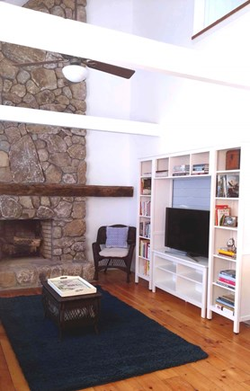 Vineyard Haven Martha's Vineyard vacation rental - Open 2-Story Living Room