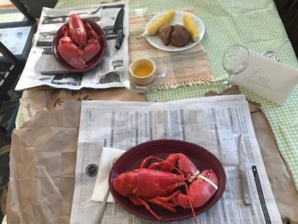 Oak Bluffs-Brush Pond/Eastvill Martha's Vineyard vacation rental - Vineyard Dinner time!