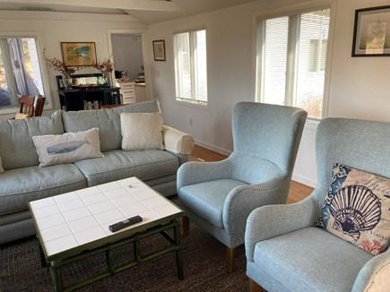 Oak Bluffs-Brush Pond/Eastvill Martha's Vineyard vacation rental - Living room overlooking the water