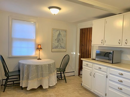 Vineyard Haven, Rustic Lake Tashmoo Area Cotta Martha's Vineyard vacation rental - Kitchen with 42 inch table seating up to 4 persons