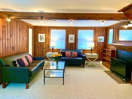 Vineyard Haven, Rustic Lake Tashmoo Area Cotta Martha's Vineyard vacation rental - Living Room w/New Furnishings and 45 inch Television