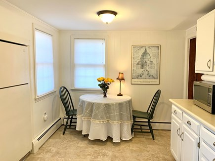 Vineyard Haven, Rustic Lake Tashmoo Area Cotta Martha's Vineyard vacation rental - Eat in Kitchen w/42 inch table seating up to 4 persons