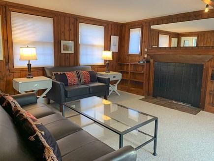Vineyard Haven, Rustic Lake Tashmoo Area Cotta Martha's Vineyard vacation rental - Living Room with new sofa & loveseat