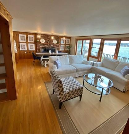 Vineyard Haven Martha's Vineyard vacation rental - Main Level - Living Room w/ Waterviews & Deck Access