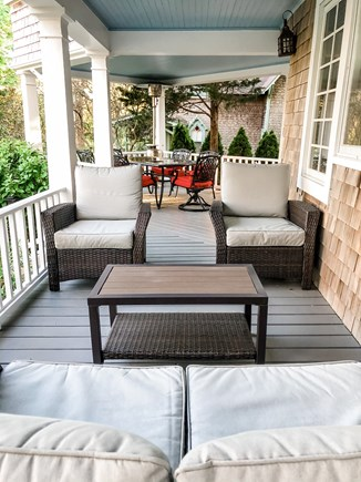 Oak Bluffs, East Chop Martha's Vineyard vacation rental - Covered front porch with ample seating