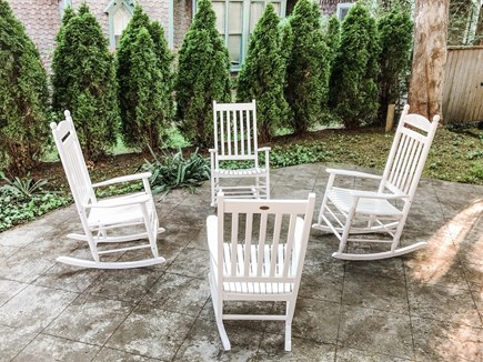 Oak Bluffs, East Chop Martha's Vineyard vacation rental - Private patio with rocking chairs