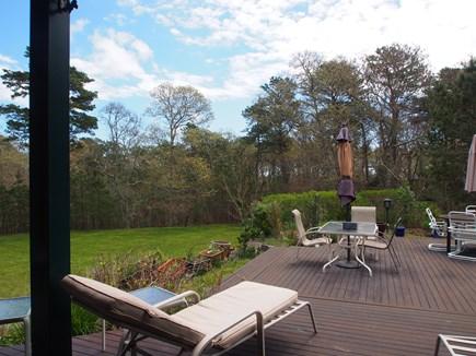 Vineyard Haven Martha's Vineyard vacation rental - Lounging on the sunny deck