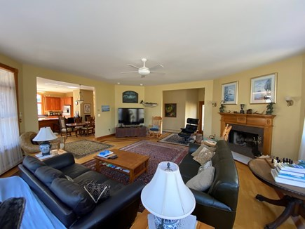 Vineyard Haven Martha's Vineyard vacation rental - Living Room Fire Place and Media Center