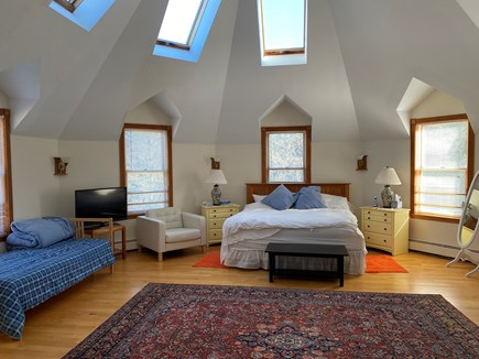 Vineyard Haven Martha's Vineyard vacation rental - Master Bedroom with Tower Gables and King Bed
