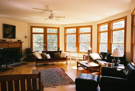 Vineyard Haven Martha's Vineyard vacation rental - Sunny Living Room with High Ceilings