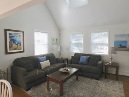 Oak Bluffs Martha's Vineyard vacation rental - Living room with cathedral celings