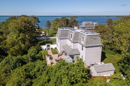 Edgartown Martha's Vineyard vacation rental - Bird's eye view of house and Nantucket Sound