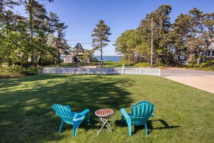 Edgartown Martha's Vineyard vacation rental - Beautifully manicured front lawn with water view