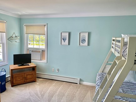 Edgartown Martha's Vineyard vacation rental - 2nd floor bunkroom w/ twin over double bed & twin trundle & TV