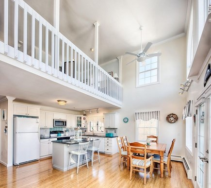 Edgartown Martha's Vineyard vacation rental - Bright and airy dining area and kitchen with loft above