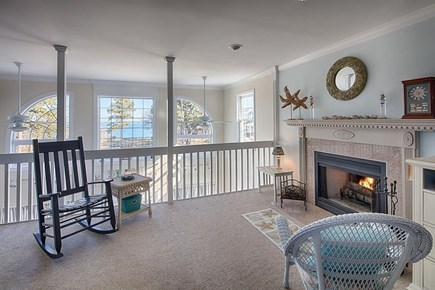 Edgartown Martha's Vineyard vacation rental - Gorgeous views from loft area w/ fireplace, pull-out couch & TV