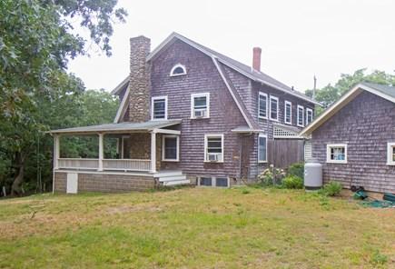 Oak Bluffs, East Chop Martha's Vineyard vacation rental - Back yard, and shorter side of wrap-around porch.