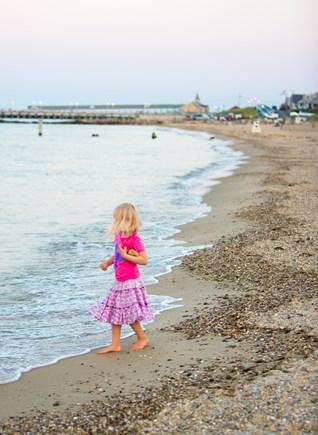 Oak Bluffs, East Chop Martha's Vineyard vacation rental - Evening look down Jetty Beach.
