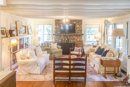 Oak Bluffs, East Chop Martha's Vineyard vacation rental - Living room with brand-new Smart TV.