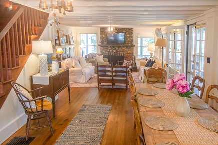 Oak Bluffs, East Chop Martha's Vineyard vacation rental - From dining into living room.