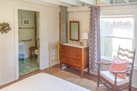 Oak Bluffs, East Chop Martha's Vineyard vacation rental - 1st floor Queen bedroom and bathroom.