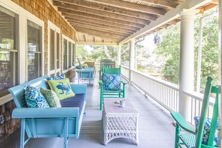 Oak Bluffs, East Chop Martha's Vineyard vacation rental - Wrap-around porch. Ample seating. Small water view; sunsets!