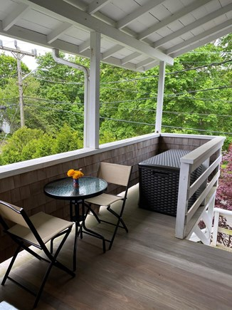 Edgartown Martha's Vineyard vacation rental - Enjoy breakfast at your bistro table on the private covered porch