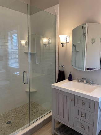 Edgartown Martha's Vineyard vacation rental - Lovely En Suite Bath with Tiled Shower & Laundry.