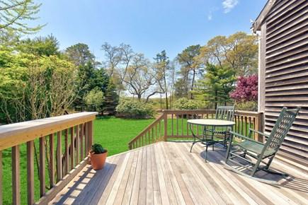 West Tisbury Martha's Vineyard vacation rental - Deck Toward Lawn and Farm (with horses!)