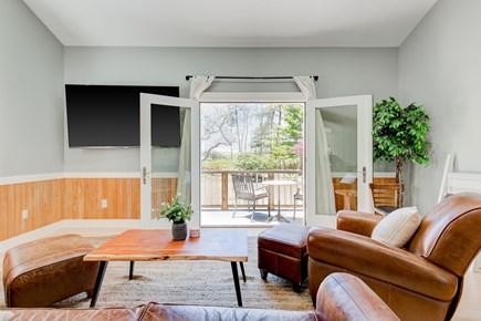 West Tisbury Martha's Vineyard vacation rental - Living Room Doors Open to Separate Side Deck