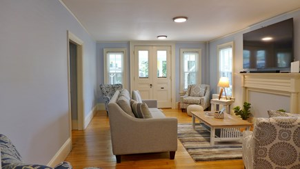 Oak Bluffs Martha's Vineyard vacation rental - Lovely living room open out to a wonderful front porch