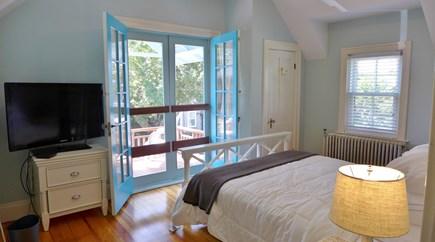 Oak Bluffs Martha's Vineyard vacation rental - 2nd Fl Queen bedroom w/ balcony