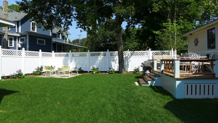 Oak Bluffs Martha's Vineyard vacation rental - Quaint patio off the back deck to enjoy your morning coffee