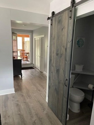 Katama - Edgartown, Katama-Edgartown Martha's Vineyard vacation rental - First floor 1/2 bath hallway to porch