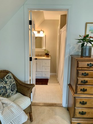 Oak Bluffs Martha's Vineyard vacation rental - View towards second floor private bathroom with tub and shower