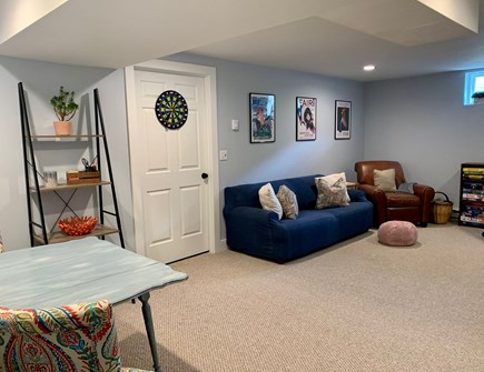 Oak Bluffs Martha's Vineyard vacation rental - Second family room in the finished basement with flat screen tv