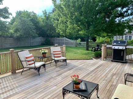 Oak Bluffs Martha's Vineyard vacation rental - Mahogany deck with new Weber gas grill