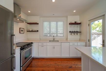 Oak Bluffs, #CozyBluffs Martha's Vineyard vacation rental - Modern bright kitchen off living room