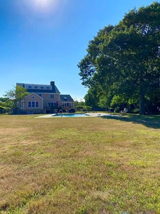 West Tisbury Martha's Vineyard vacation rental - Private backyard with POOL