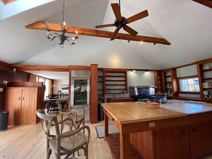 West Tisbury Martha's Vineyard vacation rental - Large open kitchen looking into dining area