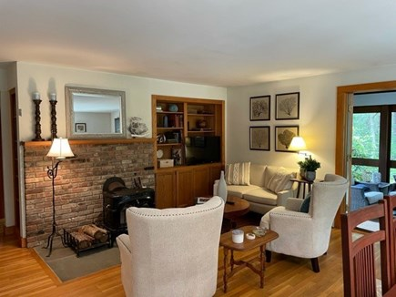 Oak Bluffs, Harthaven Martha's Vineyard vacation rental - The living area opens to the screened porch