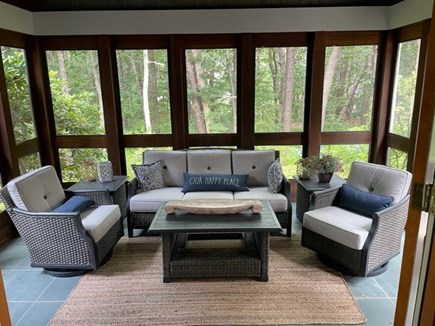 Oak Bluffs, Harthaven Martha's Vineyard vacation rental - Lovely screened porch greatly expands your living space