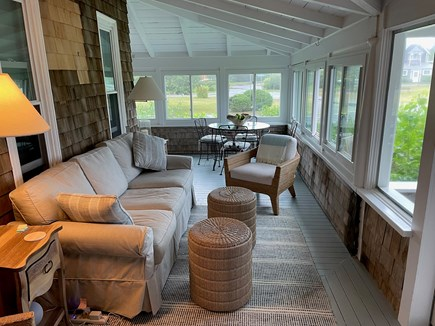Oak Bluffs Martha's Vineyard vacation rental - Enclosed side porch