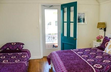 Oak Bluffs Martha's Vineyard vacation rental - Bedroom 3 - Queen & Twin w/private balcony & waterview