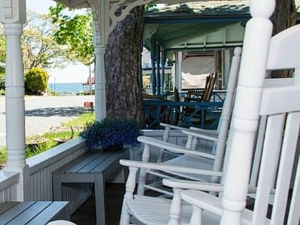 Oak Bluffs Martha's Vineyard vacation rental - Front wrap-around porch w/ocean view
