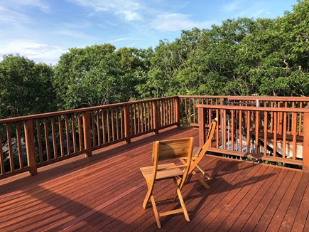 Aquinnah Martha's Vineyard vacation rental - Top floor deck.