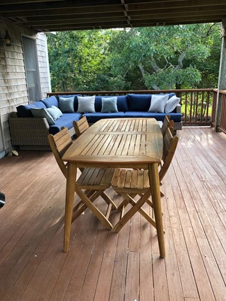 Aquinnah Martha's Vineyard vacation rental - Middle porch with outdoor lounging for 6 and dining for 8.