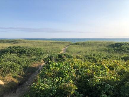Aquinnah Martha's Vineyard vacation rental - Path trhough the dunes to Lobsterville Beach.