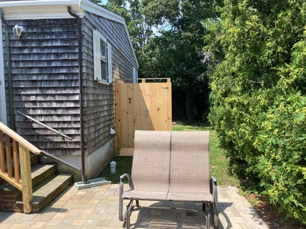 EDGARTOWN Historic District Martha's Vineyard vacation rental - Sunny backyard with outdoor shower, and propane gas grill.